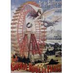 Grafika-00622 Affiche Publicitaire pour la Grande Roue de Paris , 1910