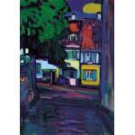 Grafika-00637 Wassily Kandinsky : Murnau, Houses in the Obermarkt, 1908