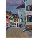 Grafika-00638 Wassily Kandinsky : Murnau, Top of the Johannisstrasse, 1908