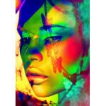 Grafika-00657 Woman Color Face Art
