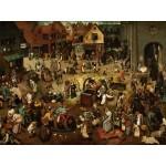 Grafika-00700 Brueghel Pieter : Le Combat de Carnaval et Carême, 1559