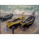 Grafika-00732 Claude Monet : Trois bateaux de Pêche, 1886