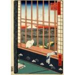 Grafika-00756 Utagawa Hiroshige : Rizières d'Asakusa et Festival Torinomachi, 1857