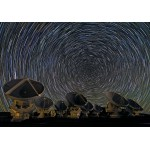 Grafika-00767 Whirling Southern Star Trails over ALMA