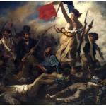 Grafika-00775 Delacroix Eugène : La Liberté Guidant le Peuple, 1830