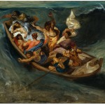 Grafika-00777 Delacroix Eugène : Christ sur la Mer de Galilée, 1841