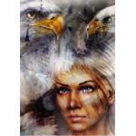 Grafika-00785 La Femme, l'Aigle et le Cheval
