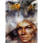 Grafika-00786 La Femme, l'Aigle et le Cheval