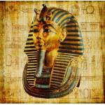 Grafika-00798 Vieux Papyrus Egyptien: Toutankhamon