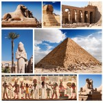 Grafika-00804 Collage Egypte, Sphinx et Pyramide