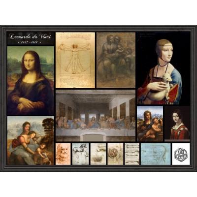 Grafika-00872 Léonard de Vinci - Collage