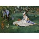 Grafika-01132 Edouard Manet : La Famille Monet dans leur Jardin à Argenteuil, 1874