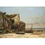 Grafika-01158 Gustave Courbet: Plage de Normandie, 1872-1875