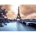Grafika-01197 La Tour Eiffel par Temps de Pluie en Hiver
