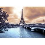 Grafika-01198 La Tour Eiffel par Temps de Pluie en Hiver