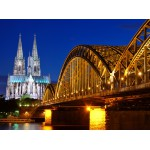 Grafika-01204 Cathédrale et Pont Hohenzollern de Cologne