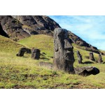 Grafika-01267 Île de Pâques, Moai at Quarry