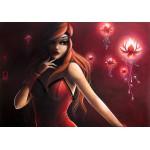 Grafika-01333 Misstigri : Red Light Flower