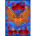 Grafika-01505 Owl & Roses