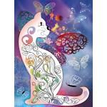 Grafika-01508 Le Chat et les Papillons