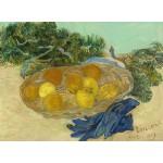 Grafika-01516 Vincent Van Gogh - Still Life of Oranges and Lemons with Blue Gloves, 1889