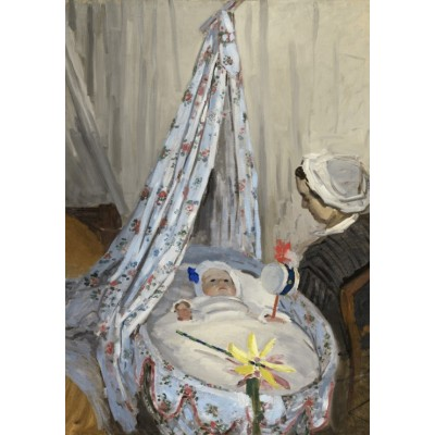 Grafika-01529 Claude Monet - The Cradle - Camille with the Artist's Son Jean, 1867