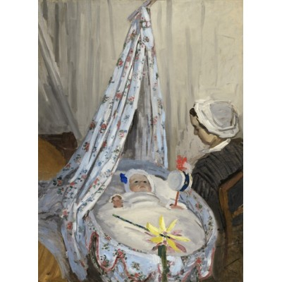 Grafika-01530 Claude Monet - The Cradle - Camille with the Artist's Son Jean, 1867