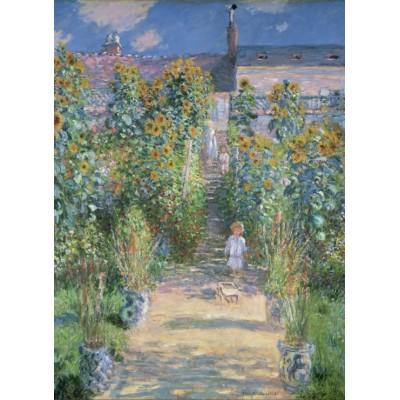 Grafika-01532 Claude Monet - Le Jardin de l'Artiste à Vétheuil, 1880