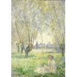 Grafika-01538 Claude Monet - Femme assise sous les Saules, 1880