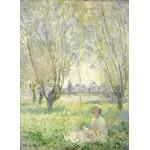 Grafika-01539 Claude Monet - Femme assise sous les Saules, 1880