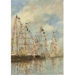 Grafika-01596 Eugène Boudin - Bassin de Yacht à Trouville, Deauville, 1895/1896