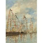 Grafika-01597 Eugène Boudin - Bassin de Yacht à Trouville, Deauville, 1895/1896