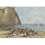 Grafika-01600 Eugène Boudin: Les Blanchisseuses de la Plage d'Etretat, 1894