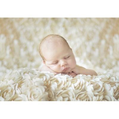 Grafika-01606 Konrad Bak: Baby sleeping in the Roses