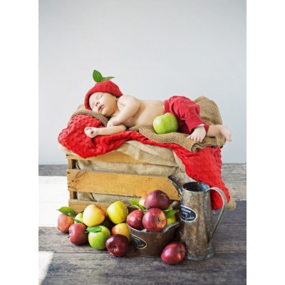 Grafika-01613 Konrad Bak: Baby and Apples