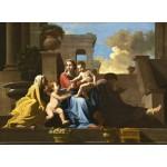 Grafika-01699 Nicolas Poussin : La Sainte Famille sur les Marches, 1648