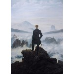 Grafika-01718 Caspar David Friedrich - Le voyageur au-dessus de la mer de nuages, 1818