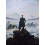 Grafika-01719 Caspar David Friedrich - Le voyageur au-dessus de la mer de nuages, 1818