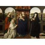 Grafika-01722 Jan van Eyck - Virgin and Child, with Saints and Donor, 1441
