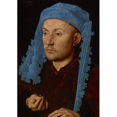 Grafika-01724 Jan van Eyck - Portrait of a Man with a Blue Chaperon, 1430-33