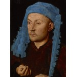 Grafika-01725 Jan van Eyck - Portrait of a Man with a Blue Chaperon, 1430-33