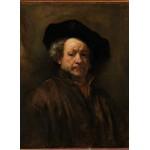 Grafika-01727 Rembrandt - Auto-Portrait, 1660