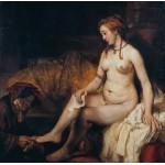 Grafika-01730 Rembrandt - Bethsabée au bain recevant la lettre de David, 1654
