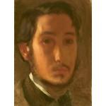 Grafika-01765 Edgar Degas : Autoportrait avec Col Blanc, 1857
