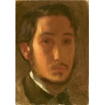 Grafika-01766 Edgar Degas : Autoportrait avec Col Blanc, 1857