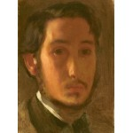 Grafika-01767 Edgar Degas : Autoportrait avec Col Blanc, 1857
