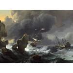 Grafika-01779 Ludolf Backhuysen : Ships in Distress off a Rocky Coast, 1667