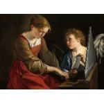 Grafika-01785 Orazio Gentileschi et Giovanni Lanfranco : Sainte Cecilia et un Ange, 1617/1618