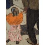 Grafika-01811 Edouard Vuillard : Enfant portant un foulard rouge, 1891
