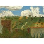 Grafika-01814 Edouard Vuillard : Paysage d'Ile de France, 1894